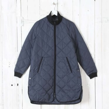 Padded Quilt Coat in India Ink