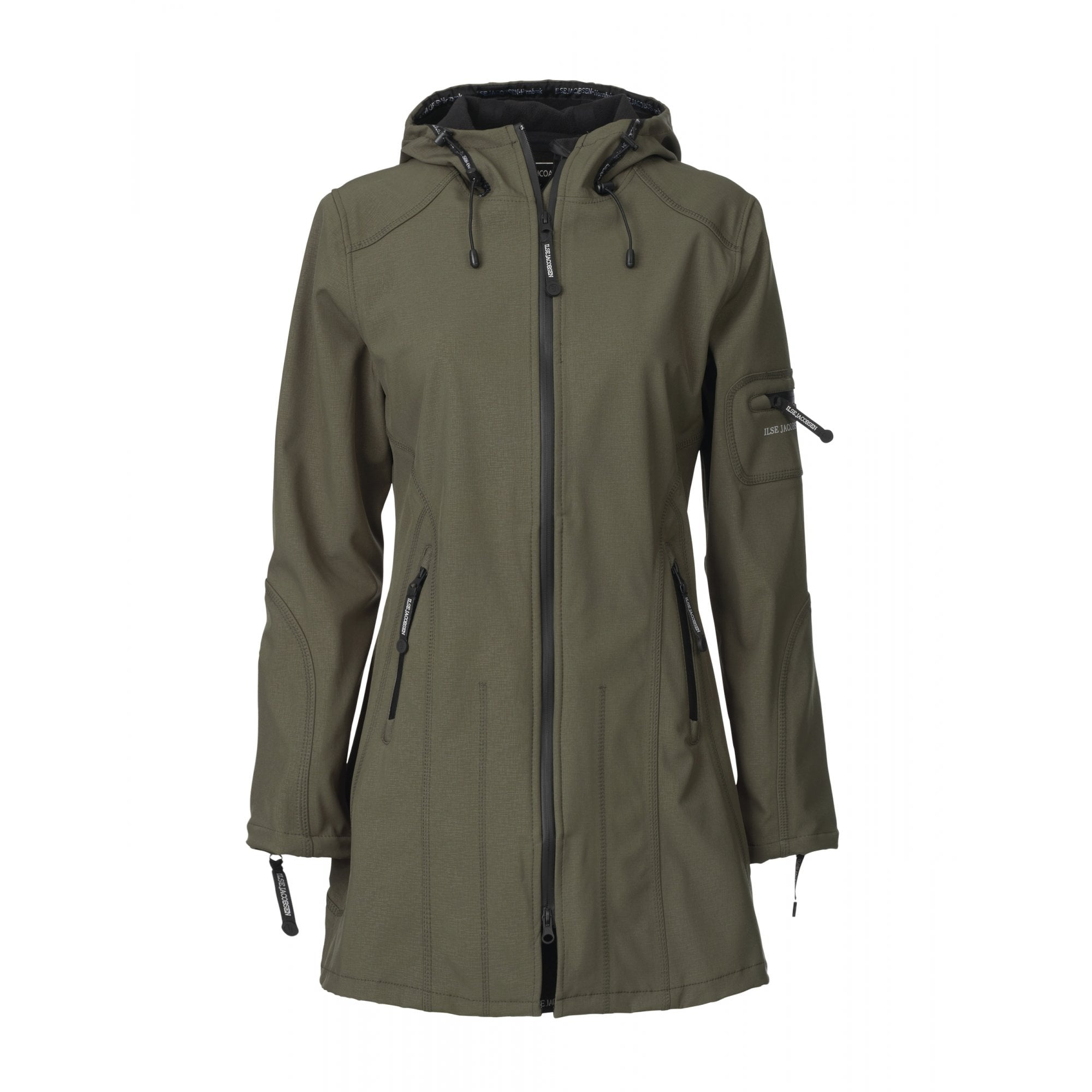 255f98435b41 ILSE JACOBSEN Rain 07 Waterproof Coat in Army