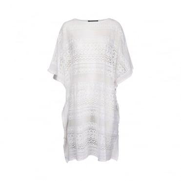 White Poncho Dress