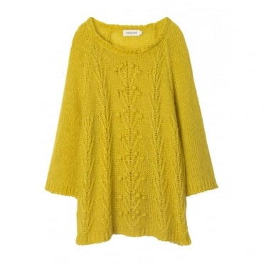 3/4 Sleeve Aran Knit Jumper