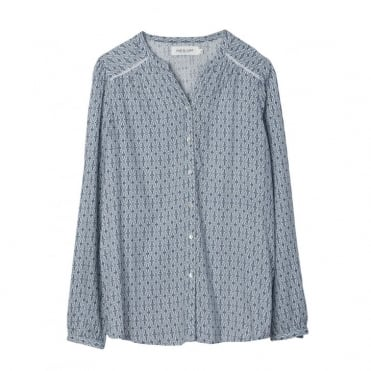 Blue Pattern Blouse