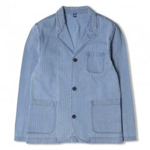 Indigo Herringbone Suit Jacket