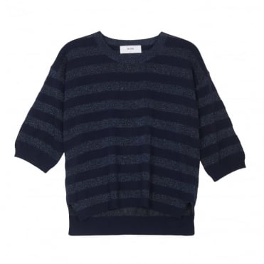 Olivia Stripe Top in Navy