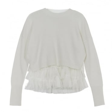 Opera Tulle Top in Winter White