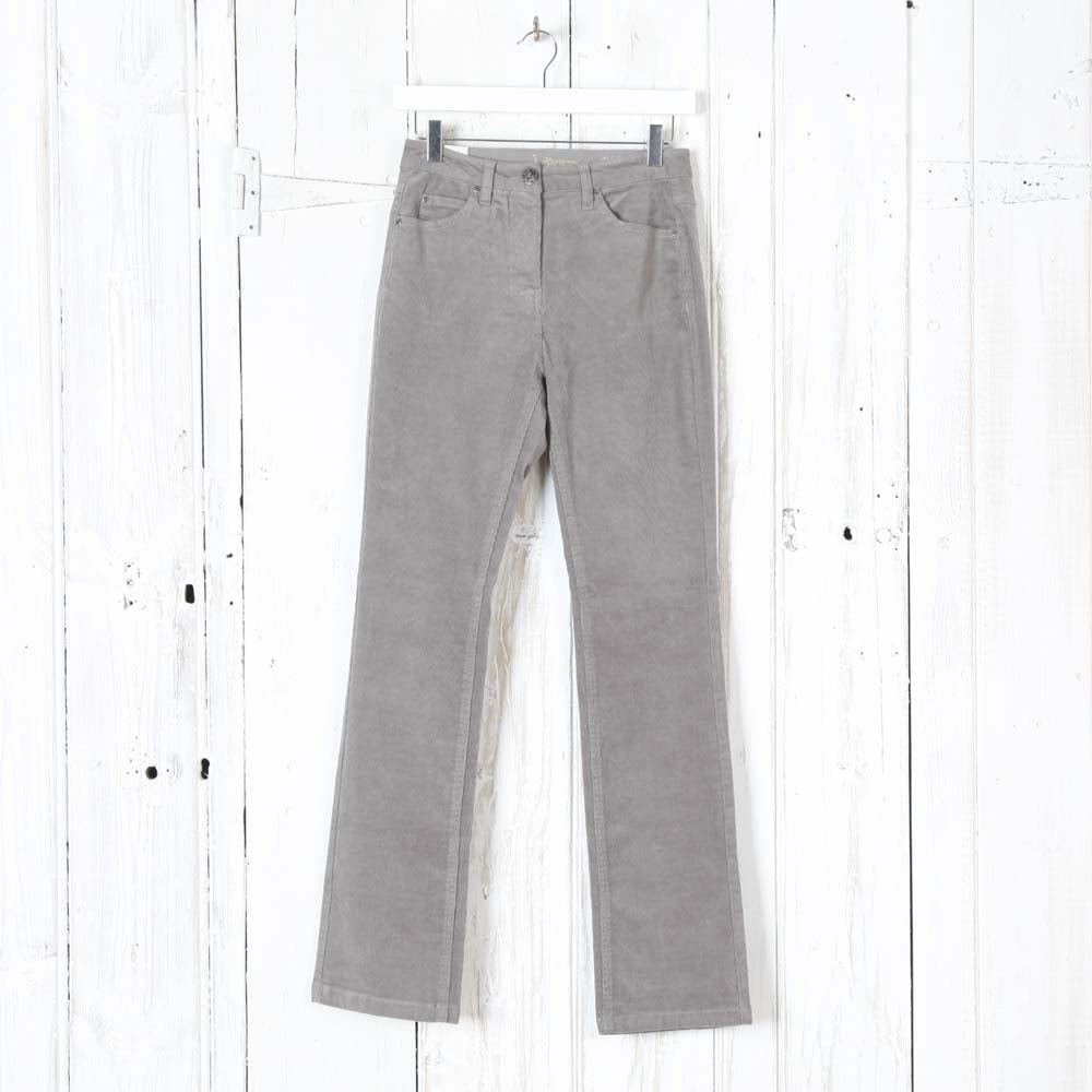 Buy Intown Laura Straight Leg Cord Trousers in Grey ...
