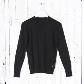Long Sleeve Turtle Neck Top in Black