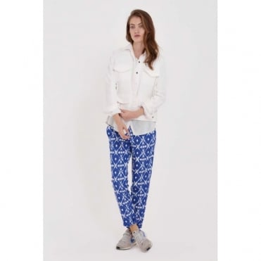 Jacquard Cotton Mix Print Trouser