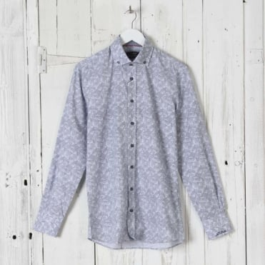 Background Circles Print Shirt in Navy