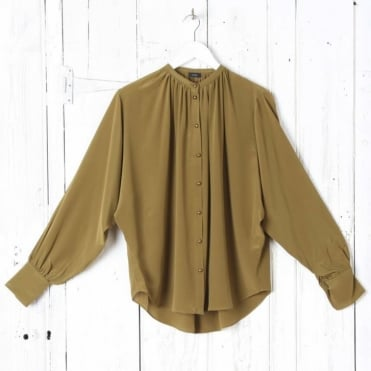 Crepe de Chine Everett Button Blouse