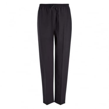 Louna Stretch Wool Drawstring Trousers