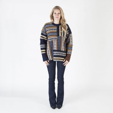 Oversized Fair Isle Lambswool Knit