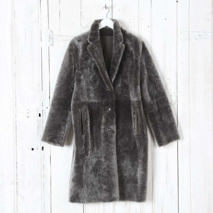 JOSEPH Reversible Brittany Polar Lamb Skin Coat