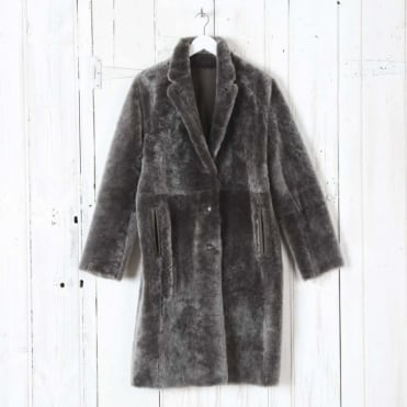 Reversible Brittany Polar Lamb Skin Coat