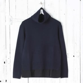 Wool Cashmere High Neck Knit Jumper