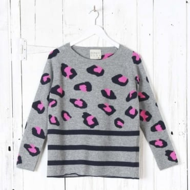 Animal Striped Crew Neck Jumper