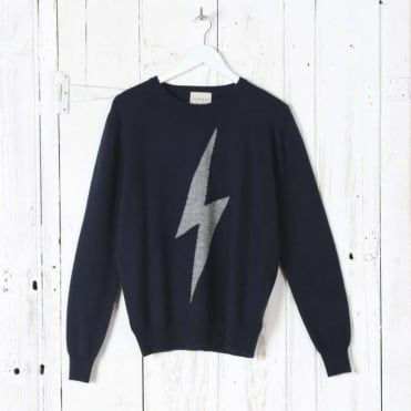 Contrast Flash Crew Neck Jumper