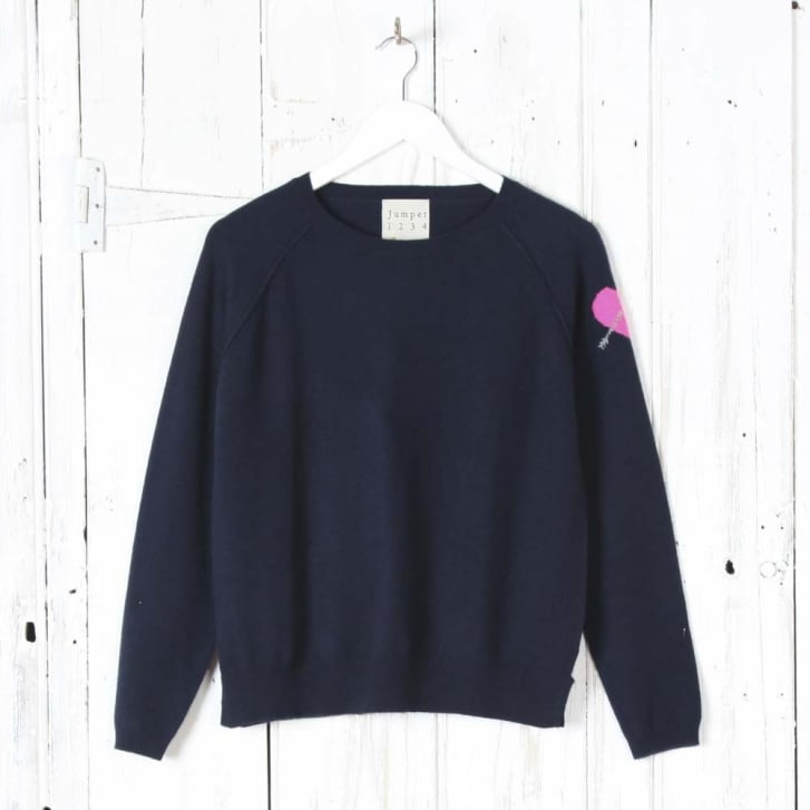 JUMPER1234 Heart On Sleeve Sweater