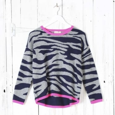 Tipped Tiger Crew Jumper