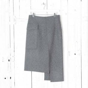 Kiki Jersey Suiting Skirt