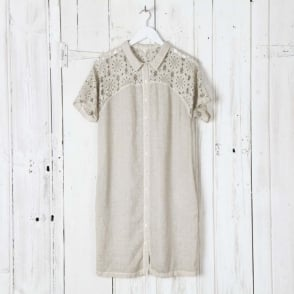Lace and Linen Dress