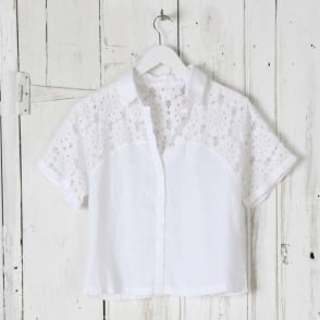 Lace and Linen Shirt