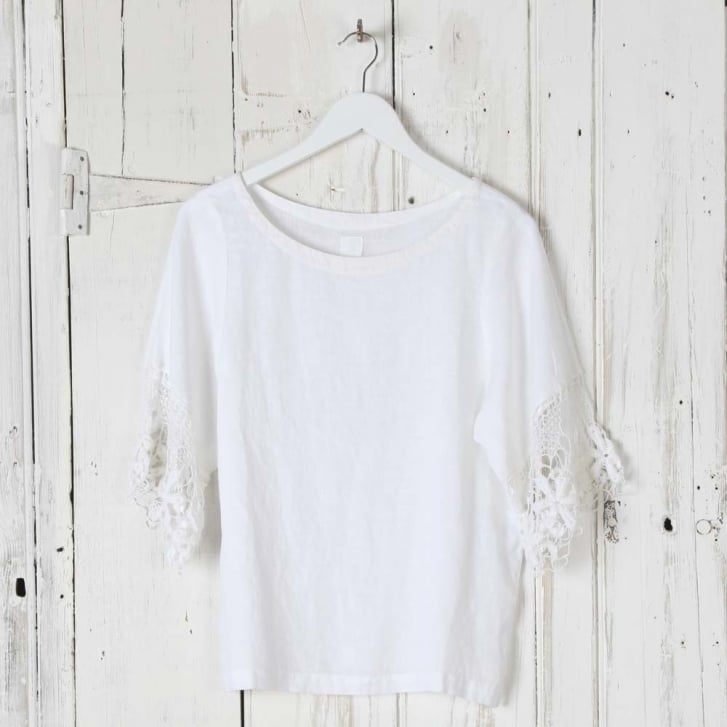 120% Lace Edge Sleeve Top