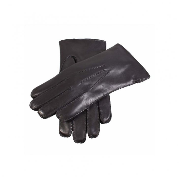 DENTS Leather Nappa Side Vent Fur Lined Glove
