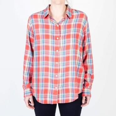 Avery Check Shirt in Red