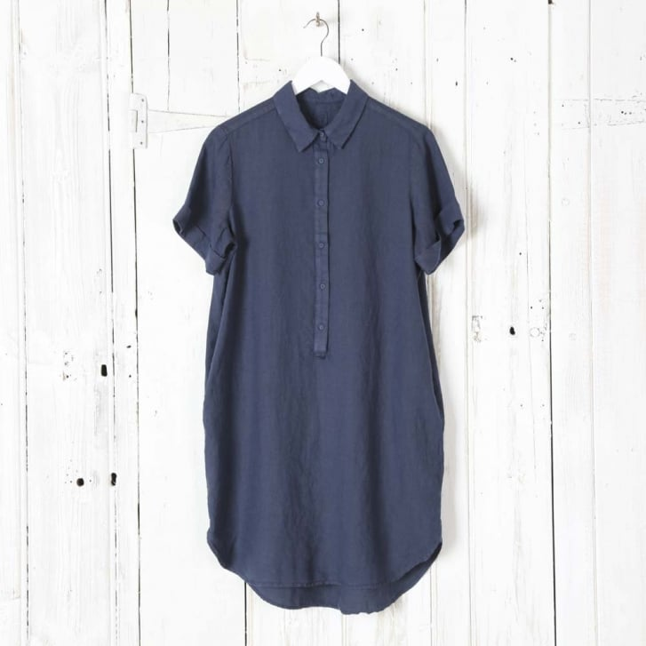 120% Linen Shirt Dress with Pockets