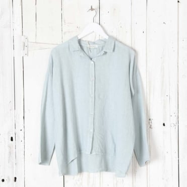 Linen Short Wide Box Shirt
