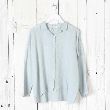 Linen Short Wide Box Shirt