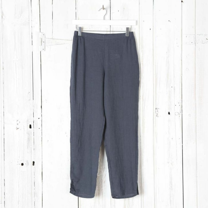 FLAX Linen Tapered Ankle Pant