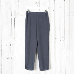 Linen Tapered Ankle Pant