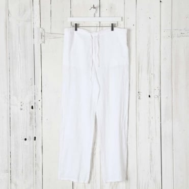 Linen Trouser with Reverse Pockets
