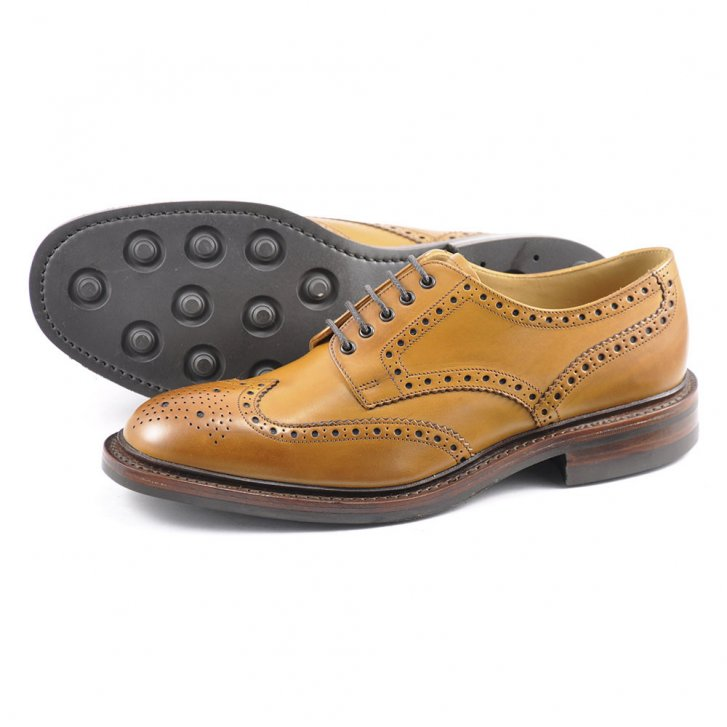 LOAKE Chester Brogue with Rubber Soles