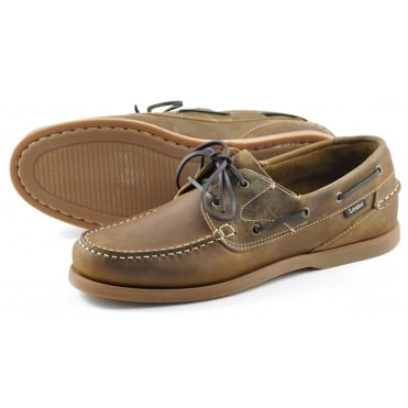 Lymington Moccasin Boat Shoe in Brown