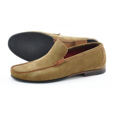 Nicholson Suede Moccasin in Tan