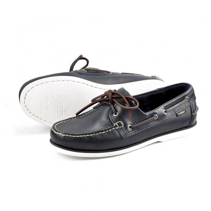 Loake Waxy Boat Shoe in Blue & Brown | Collen & Clare