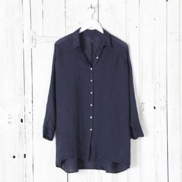 Long Line Linen Shirt