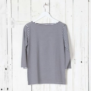 Long Sleeve Boat Neck Tee