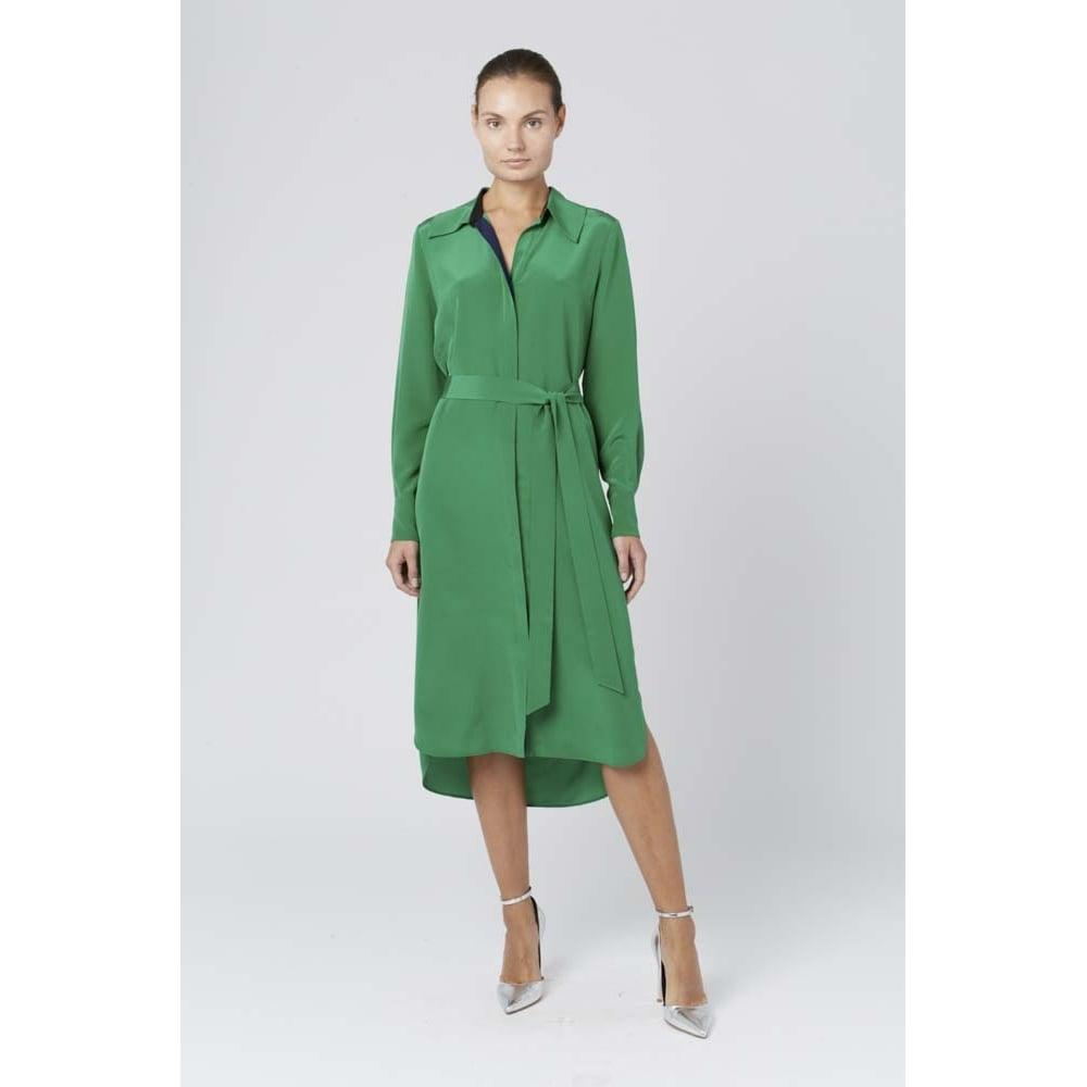 Buy diane von furstenberg long sleeve silk shirt dress for Long sleeve silk shirt dress