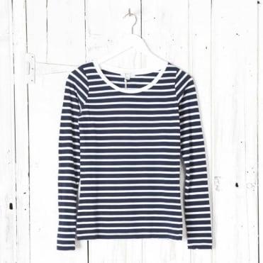 Long Sleeve Stripe Crew Neck T-shirt