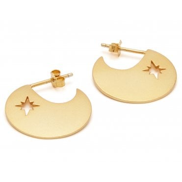 Compass Earrings in Gold