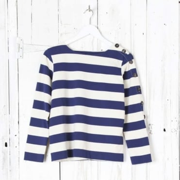 Button Sleeve Breton Top