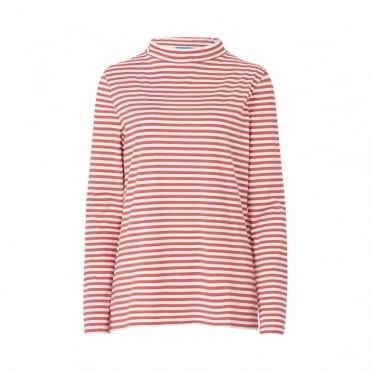 Emelie Bright Stripe Seberg Collar Top
