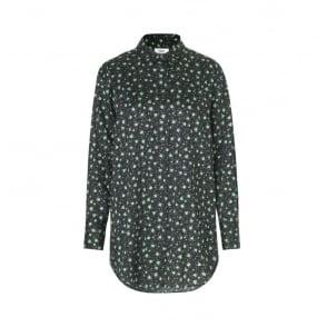 Boutique Saxa Cuff Top in Black/Green