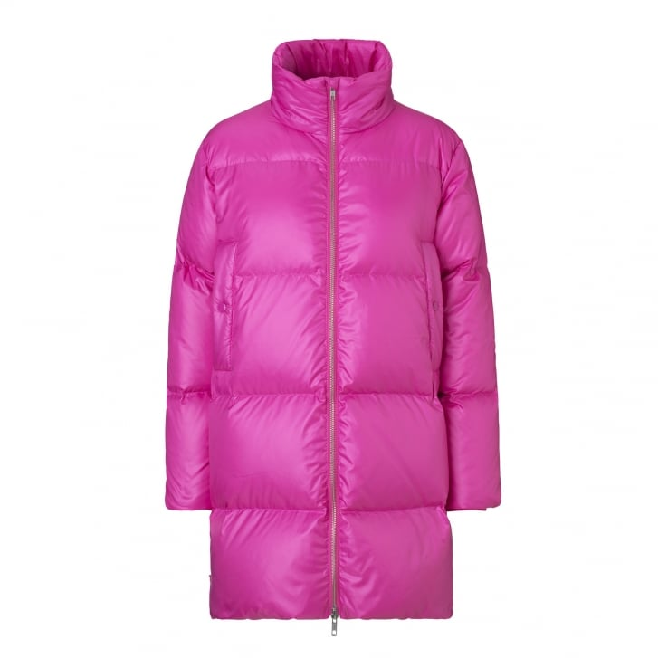 MADS NORGAARD Puffa Club Chuffa Coat in Deep Pink