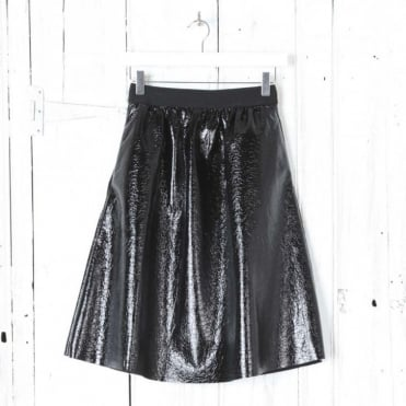 Saga Metallic Skirt with Pockets
