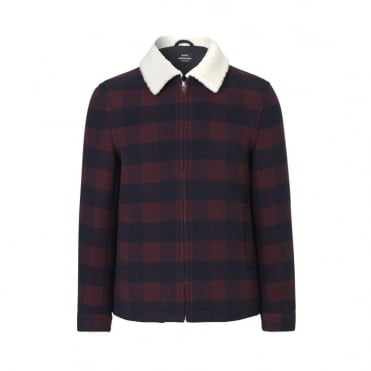 Sauda Jarano Jacket with Collar in Red Check