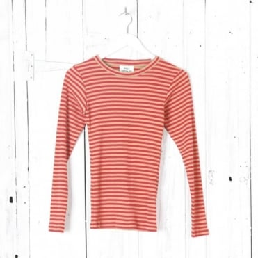 Soft Stripe Tuba Ribbed Top